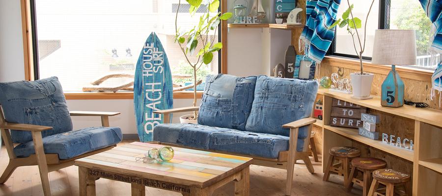 デニムソファ Huntington 2P Sofa