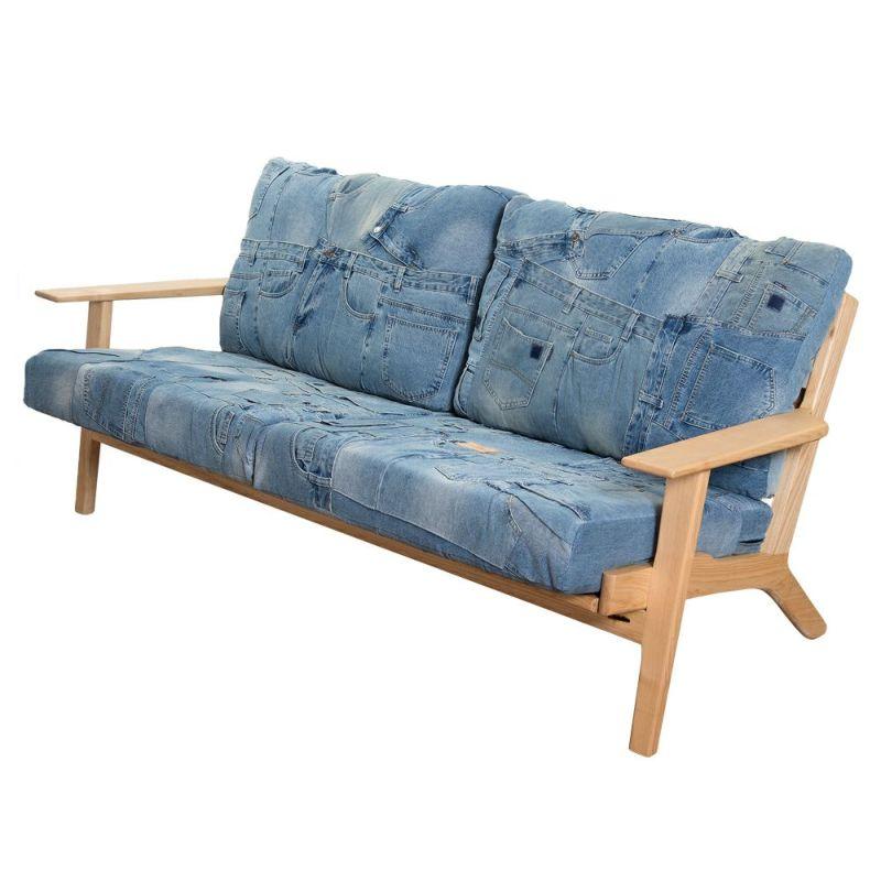 デニムソファ Huntington 3P Sofa / 西海岸風インテリアのCosta Casa (コスタカーサ)