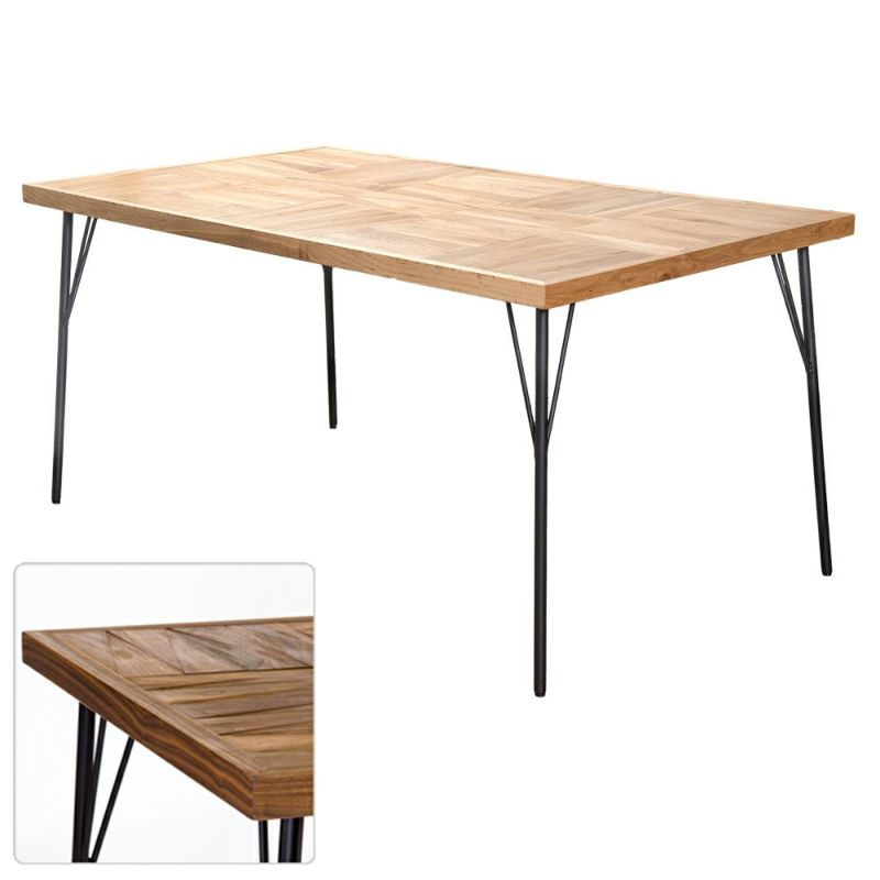 パイプライン ダイニングテーブル 155㎝ 185㎝ / 西海岸風インテリアのCosta Casa (コスタカーサ)