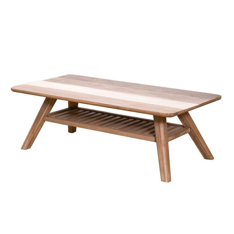 木目が美しいことで人気のアカシア材を贅沢に使用した MALIBU(マリブ) コーヒーテーブル